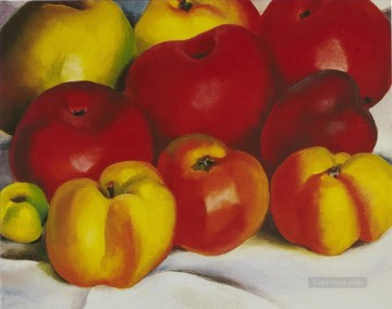 apple family 2 Georgia Okeeffe still life decor Oil Paintings